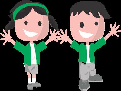 Imagen que representa niños sonrientes.