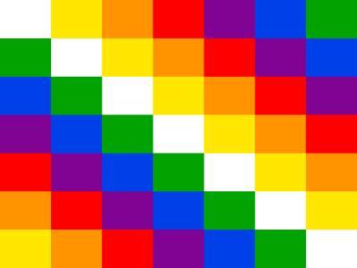 Imagen que representa una bandera de los pueblos originarios.