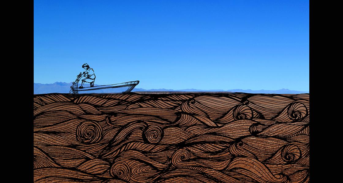 Es increíble creer que el lago se secó completamente. Ahora uno sólo puede sentir las olas que sonaban aquí antes, imaginar las redes de pesca estrellarse contra el espejo del lago y escuchar los recuerdos de los antiguos pescadores del Poopó.